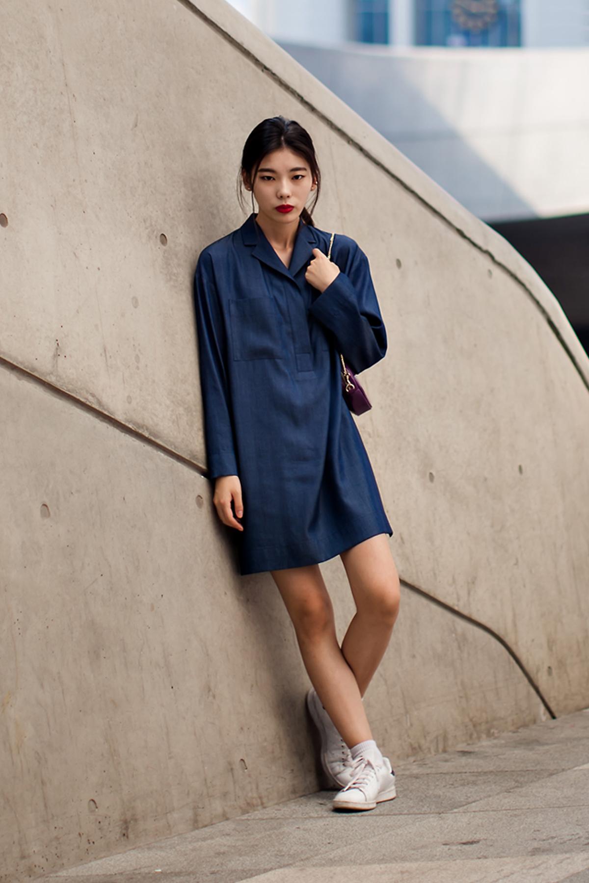 On the street… Han Yeji Seoul fashion week 2016 SS