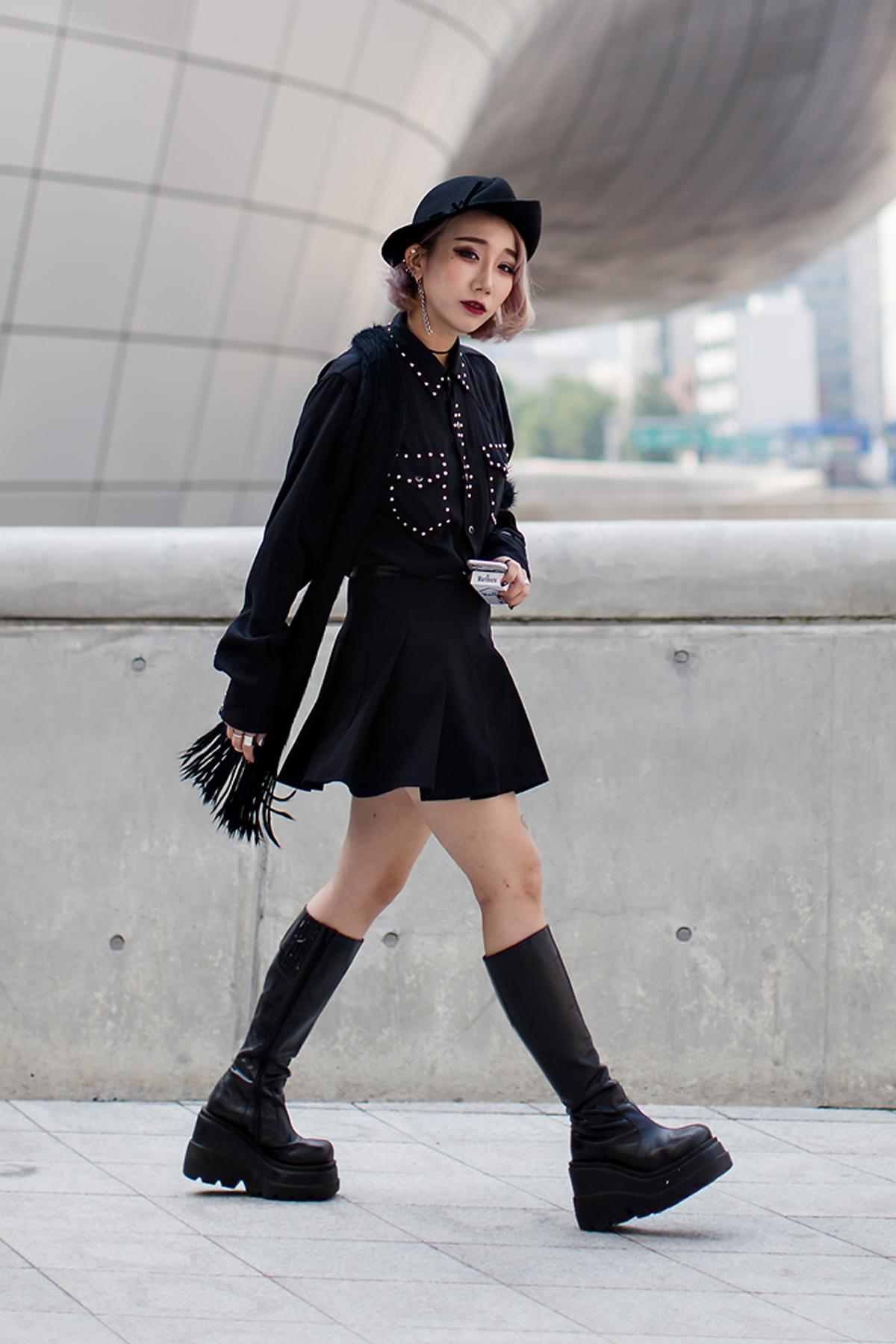 On the street… Kang Yulrin Seoul fashion week 2016 SS