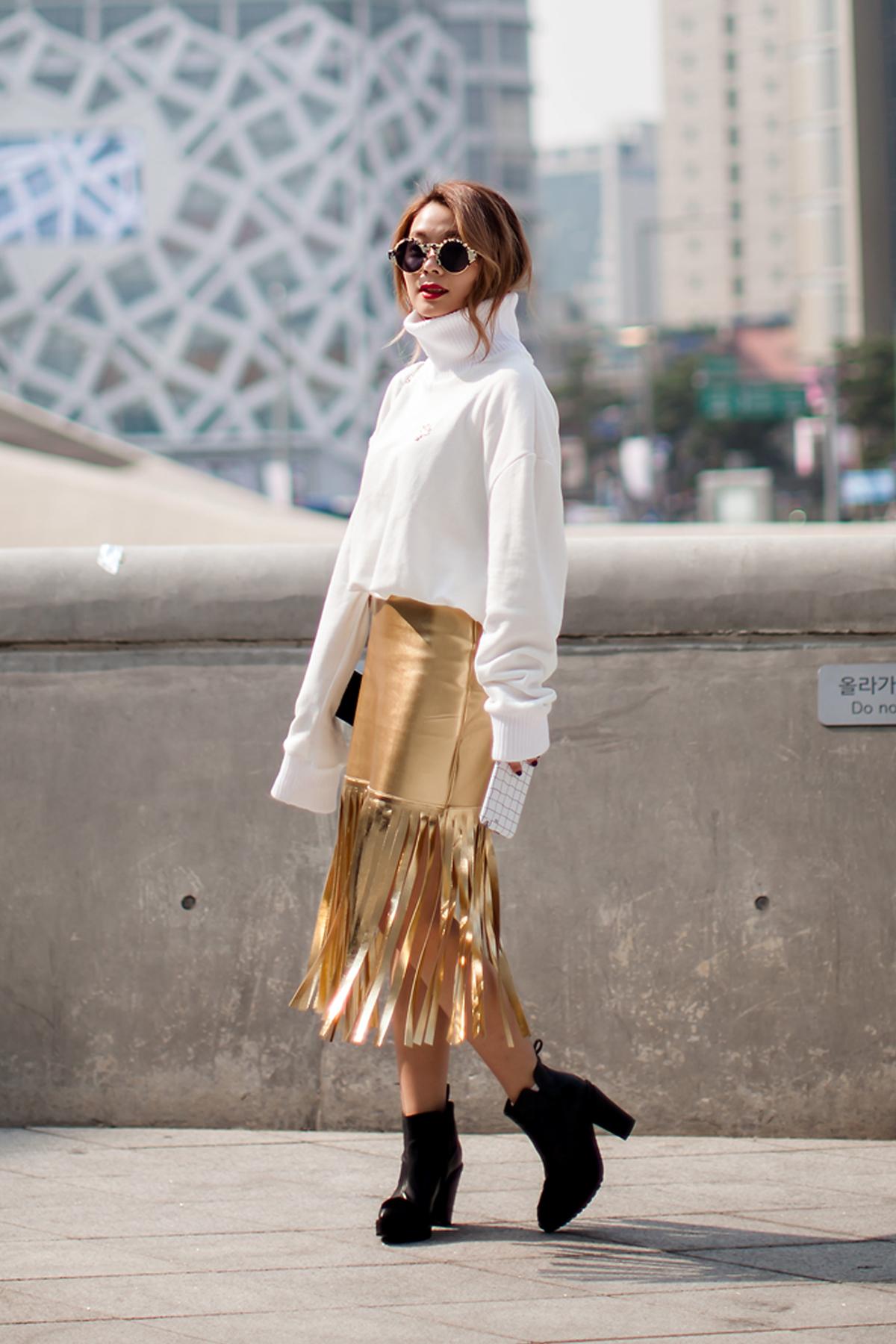 On the street… Kim Hyein Seoul fashion week 2016 SS