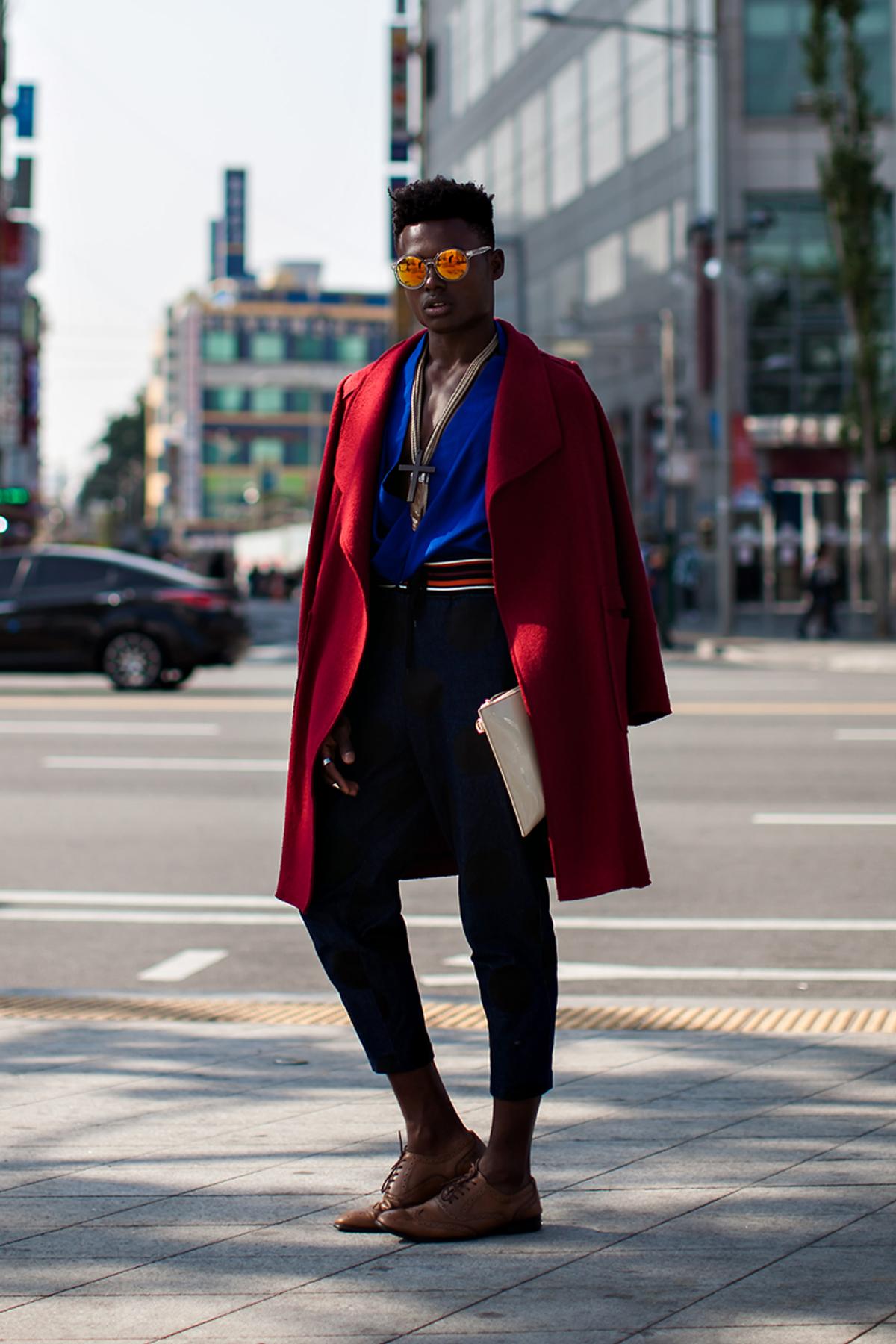 On the street… Julian Woodhouse Seoul fashion week 2016 SS