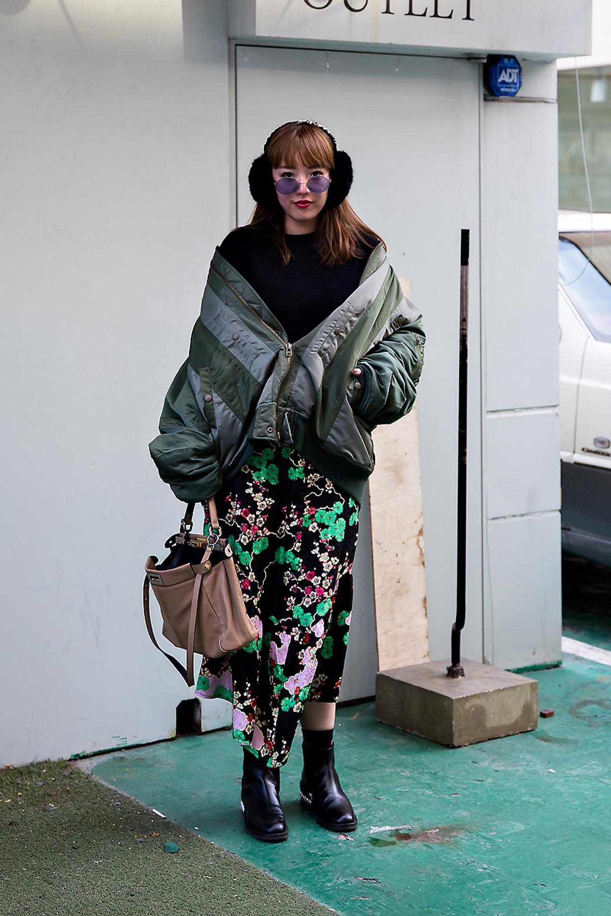 Ayako, Street style women winter 2017 inseoul
