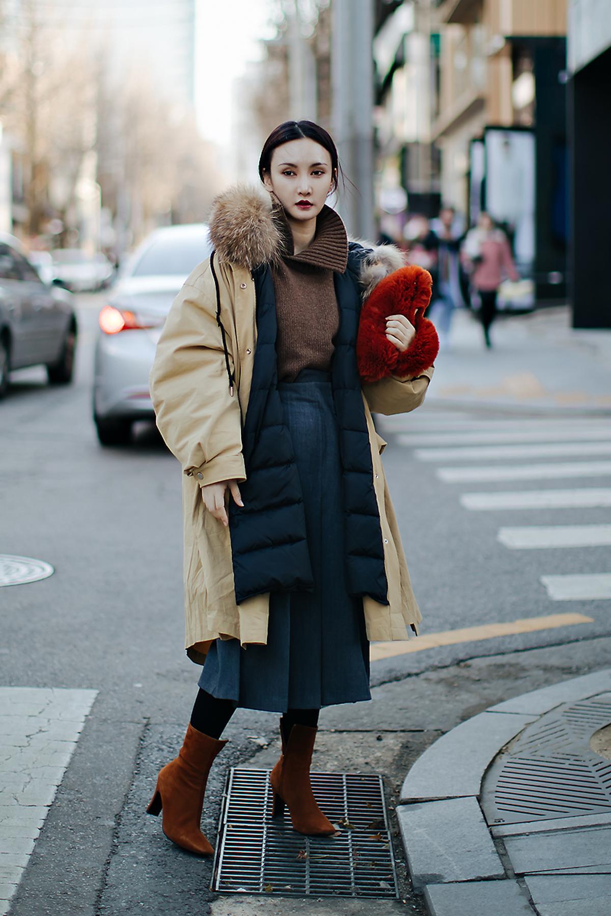Betty, Street style women winter 2017-2018 inseoul