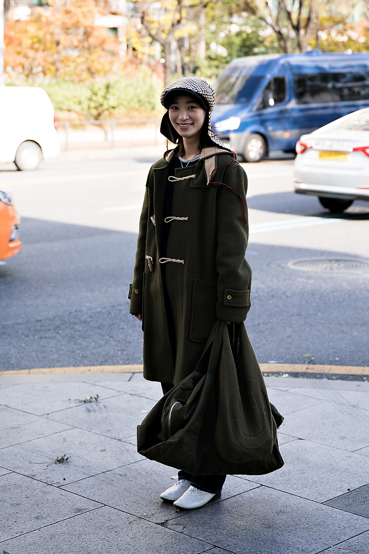 Byun Hyunji, Street style women winter 2017 inseoul