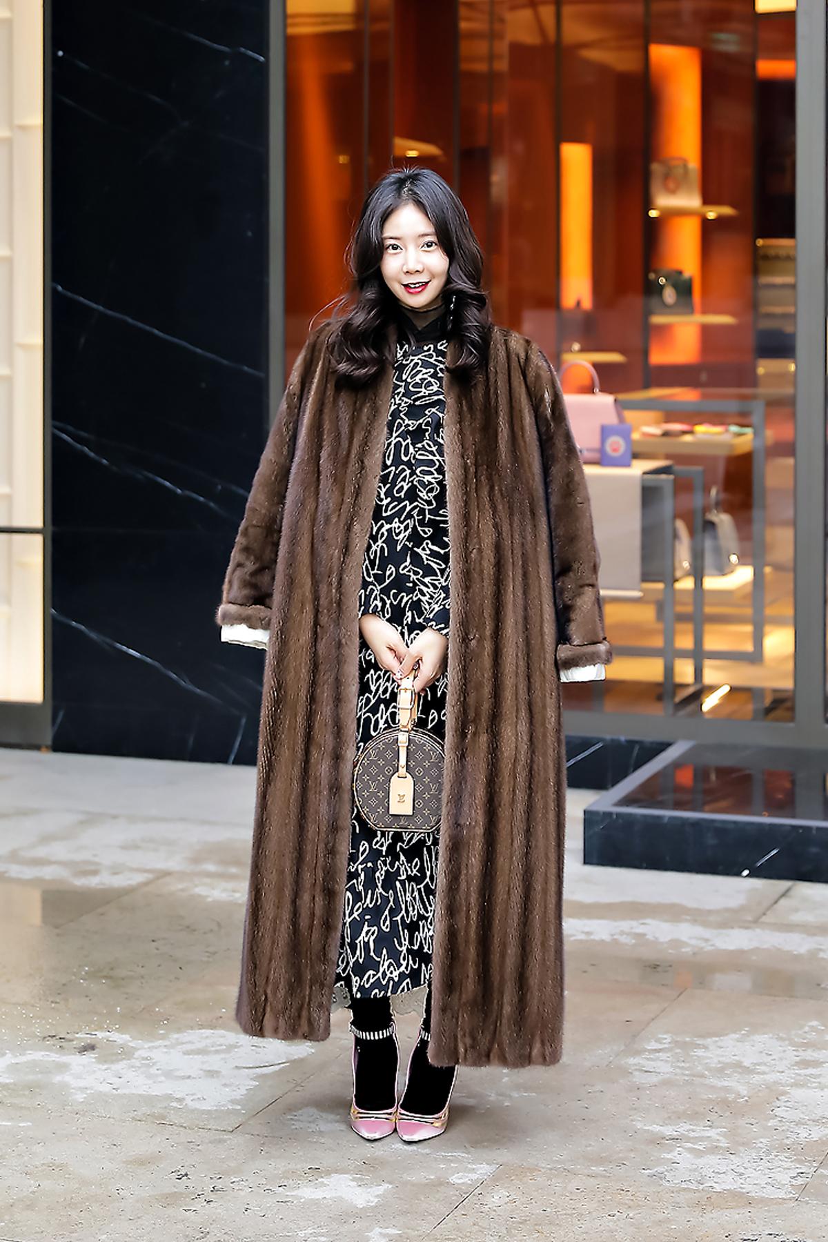 Han Yeona, Street style women winter 2017-2018 inseoul