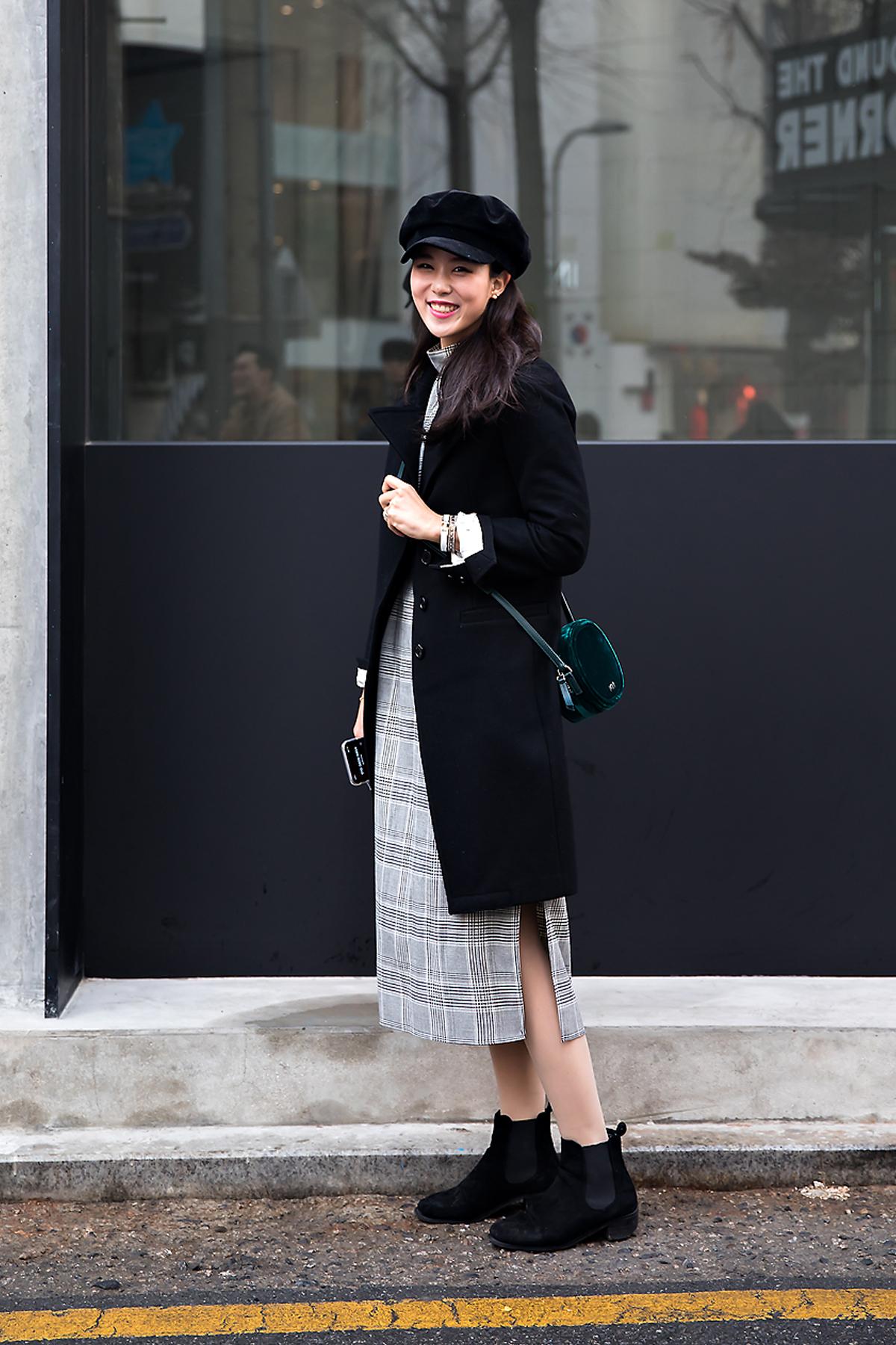 Hong Chaeyeon, Street style women winter 2017-2018 inseoul