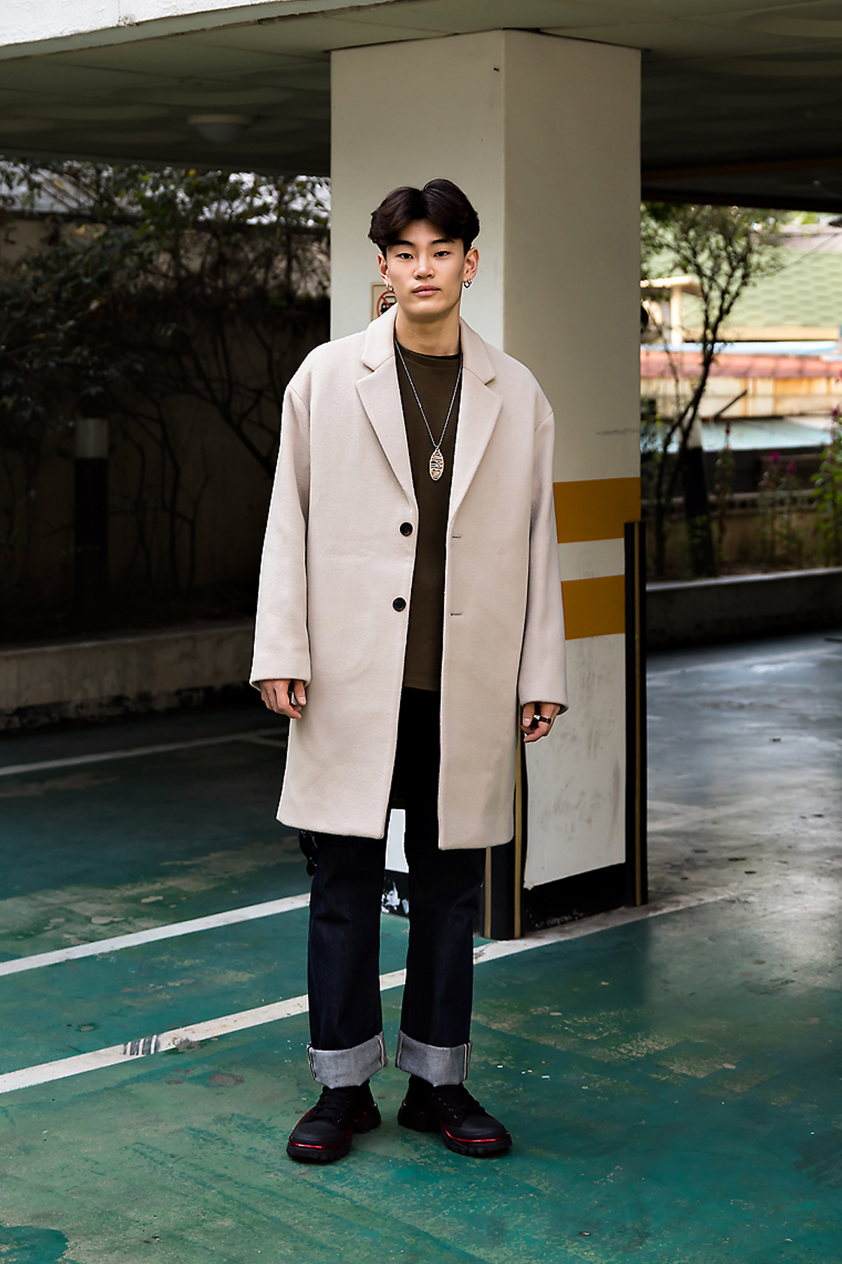Kang Inchul, Street style men fall 2017 in seoul