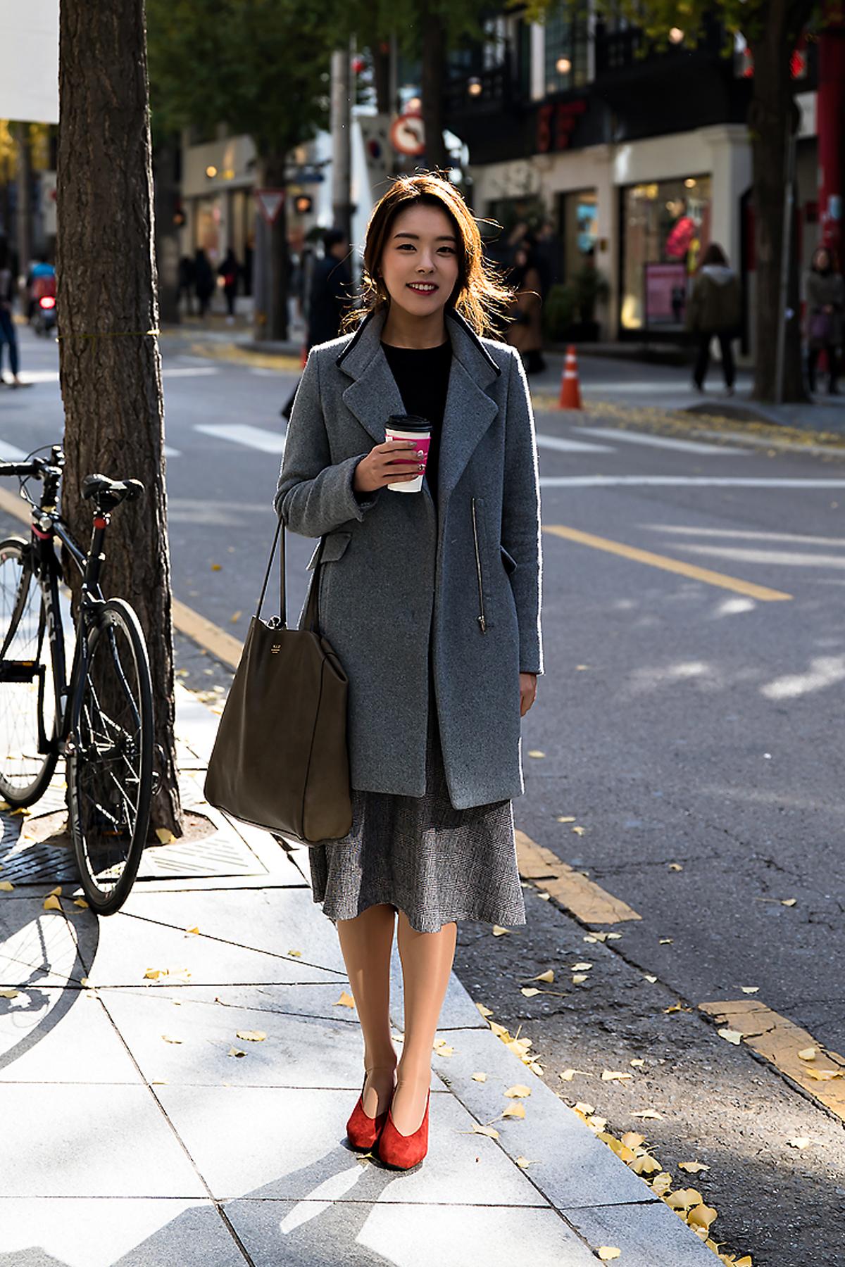 Kim Jiyoon, Street style women winter 2017 inseoul