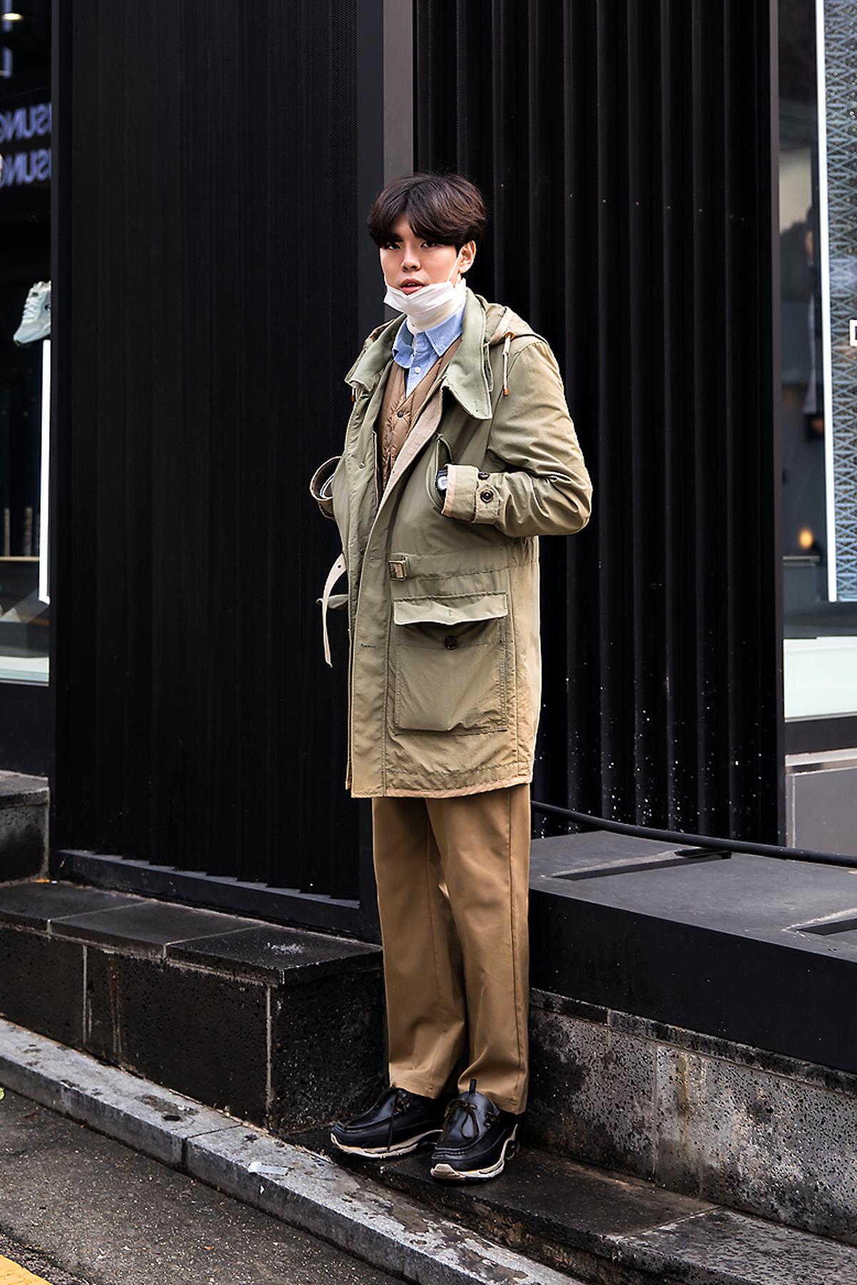Kim Junyeon, Street style men winter 2017 inseoul