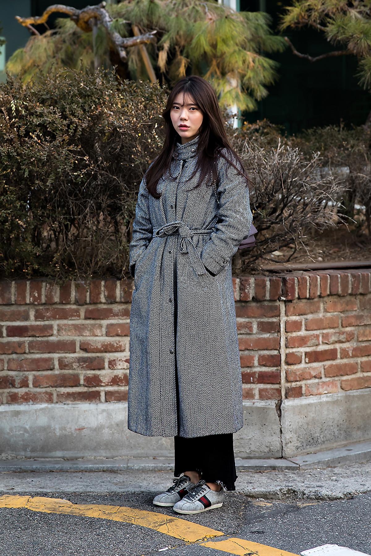 Kim Nayoung, Street style women winter 2017 inseoul