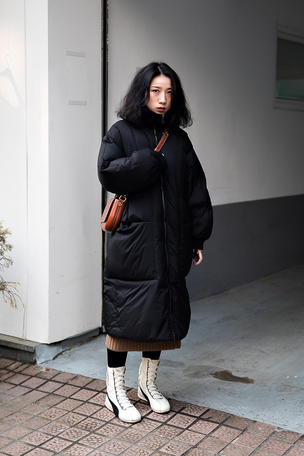 Luojiali, Street style women winter 2017-2018 inseoul