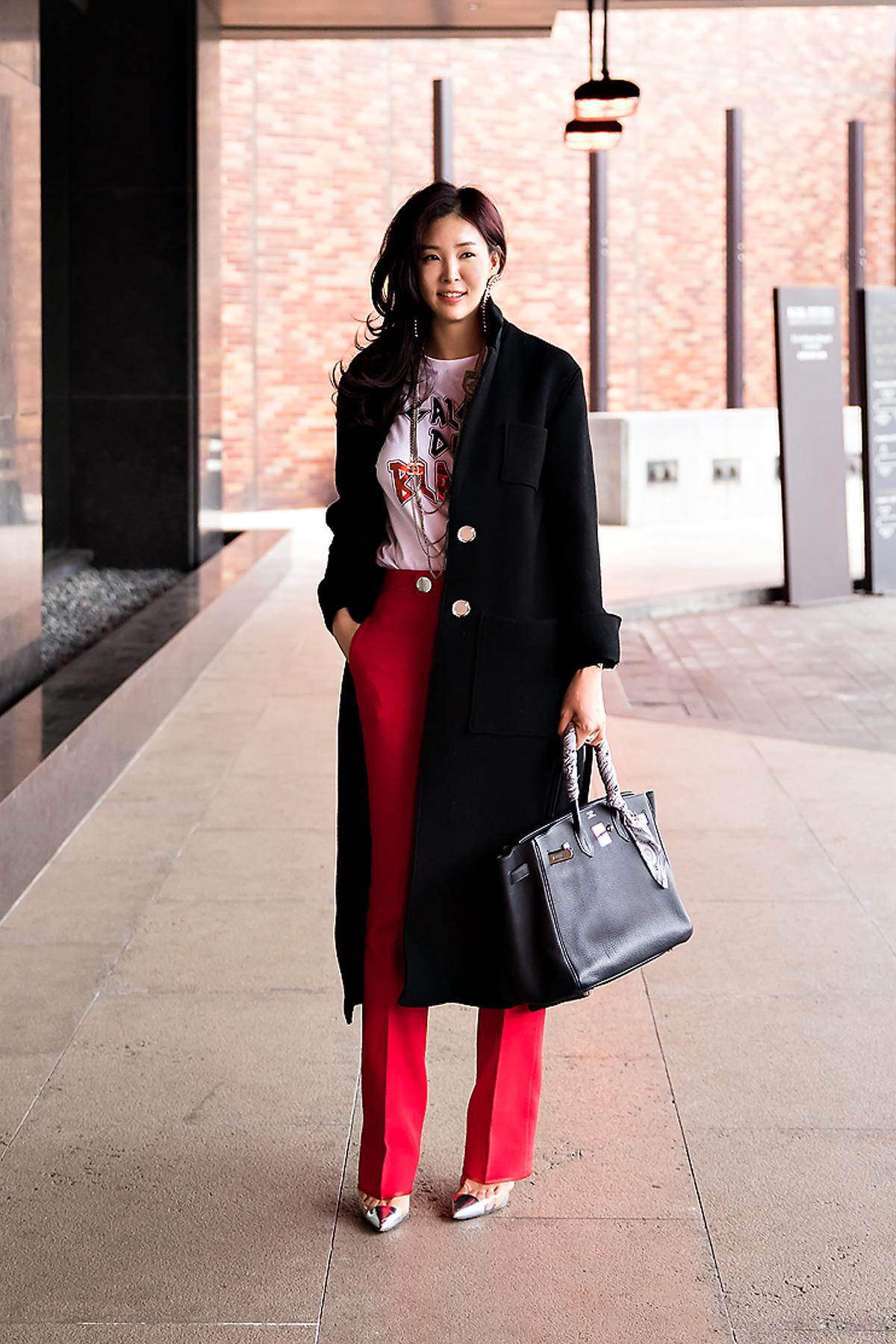 Min Sooji, Street style women winter 2017-2018 inseoul