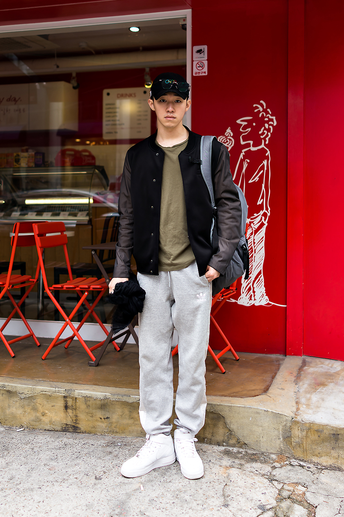 Park Sinwoo, Street style men fall 2017 in seoul