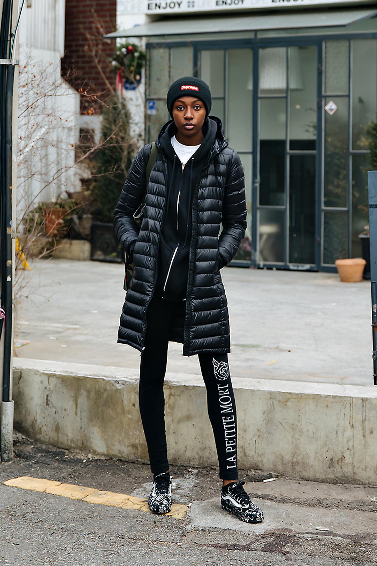 Badu, Street style women winter 2017-2018 inseoul