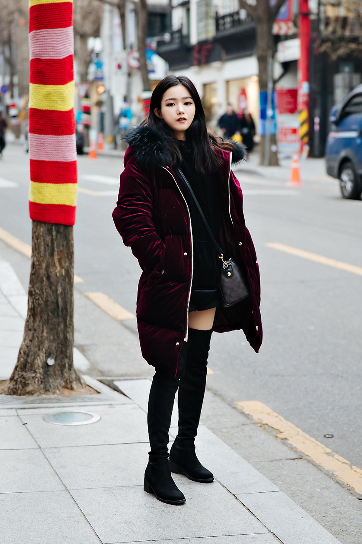 Jnneia, Street style women winter 2017-2018 inseoul