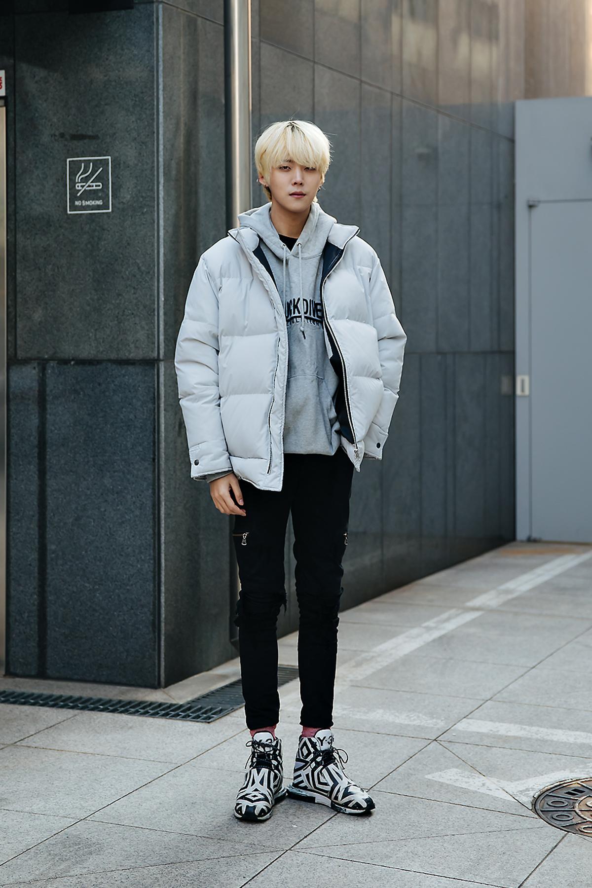 Joo Wondae, Street style men winter 2017-2018 inseoul