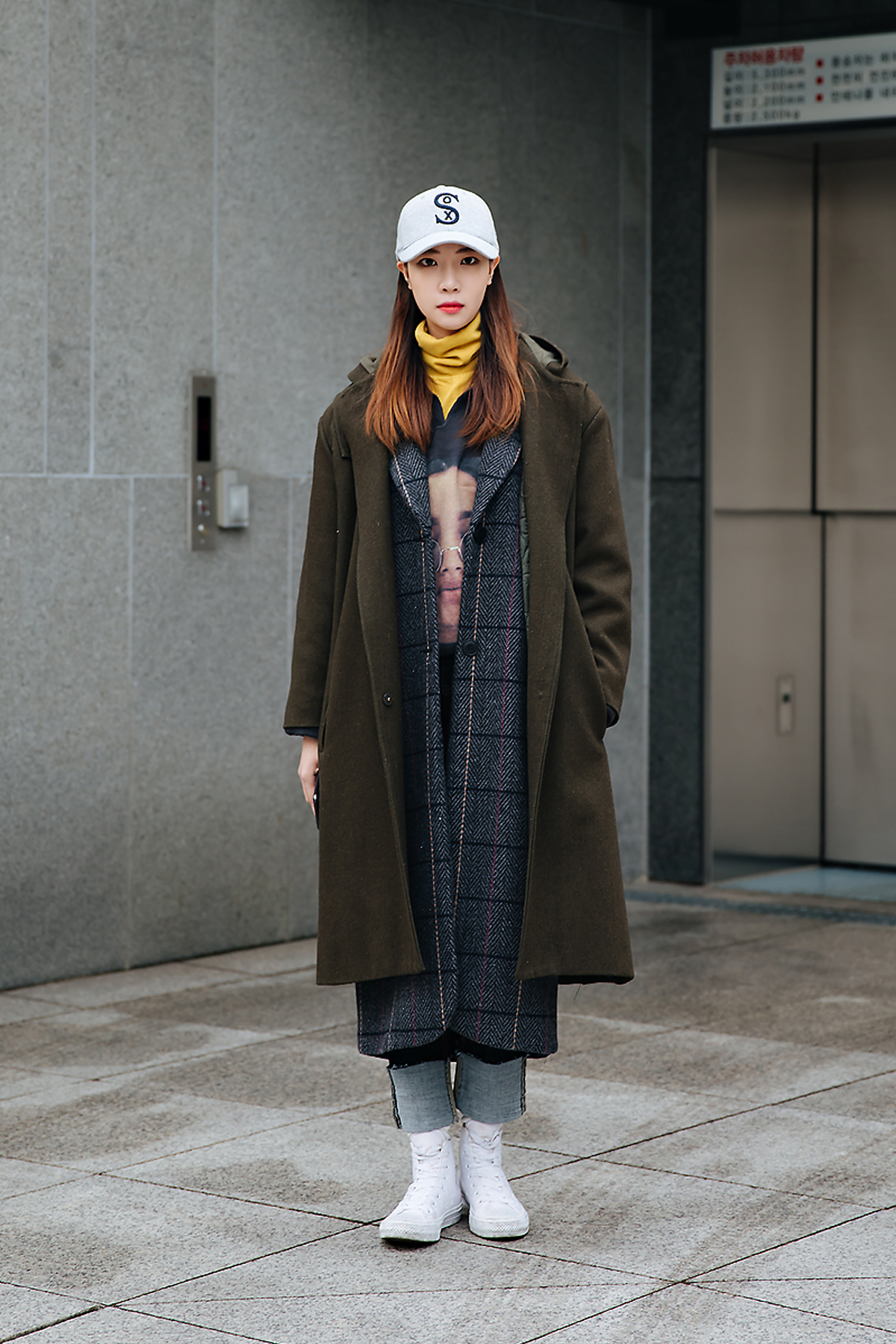 Moon Dabin, Street style women winter 2017-2018 in seoul
