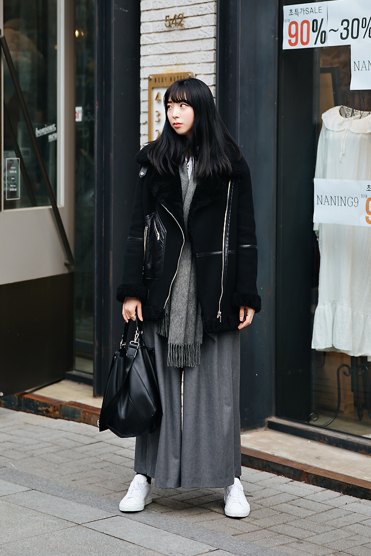 Moon Yoonjin, Street style women winter 2017-2018 in seoul
