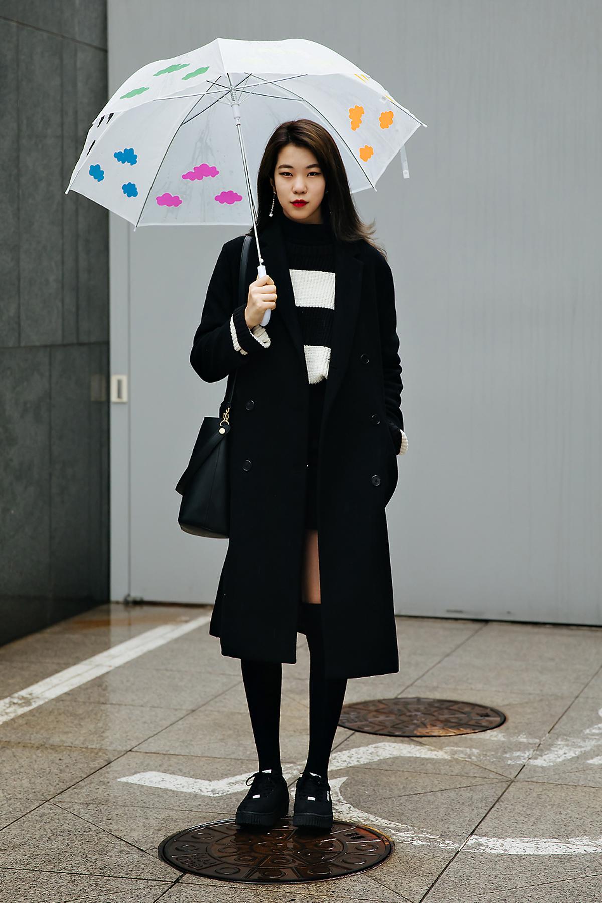 Park Hyorin, Street style women winter 2017-2018 inseoul
