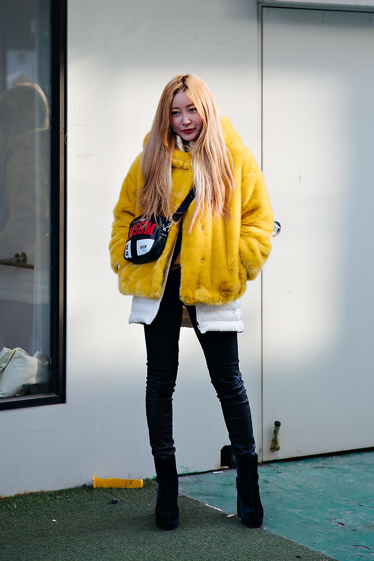 Park Yeseul, Street style women winter 2017-2018 inseoul