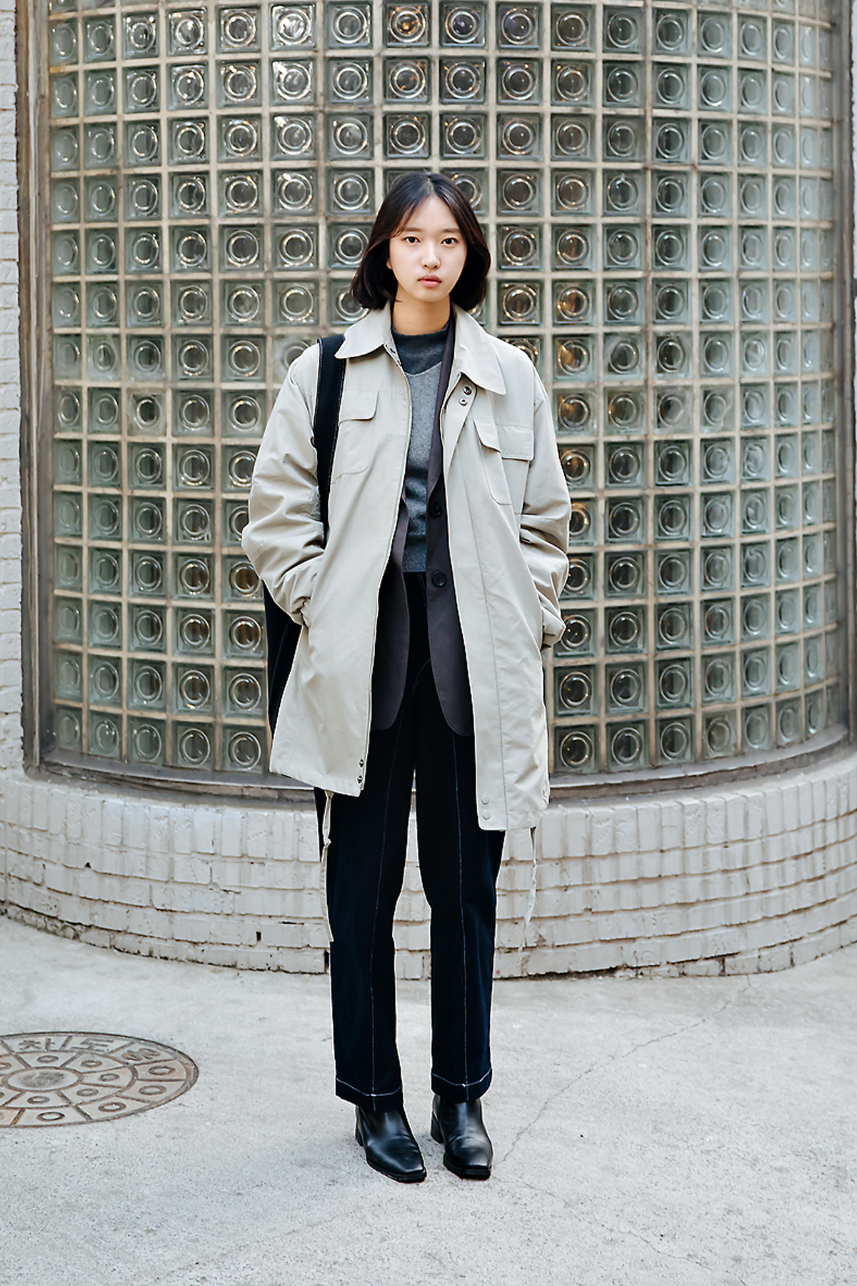 Song Seoin, Street style women winter 2017-2018 in seoul