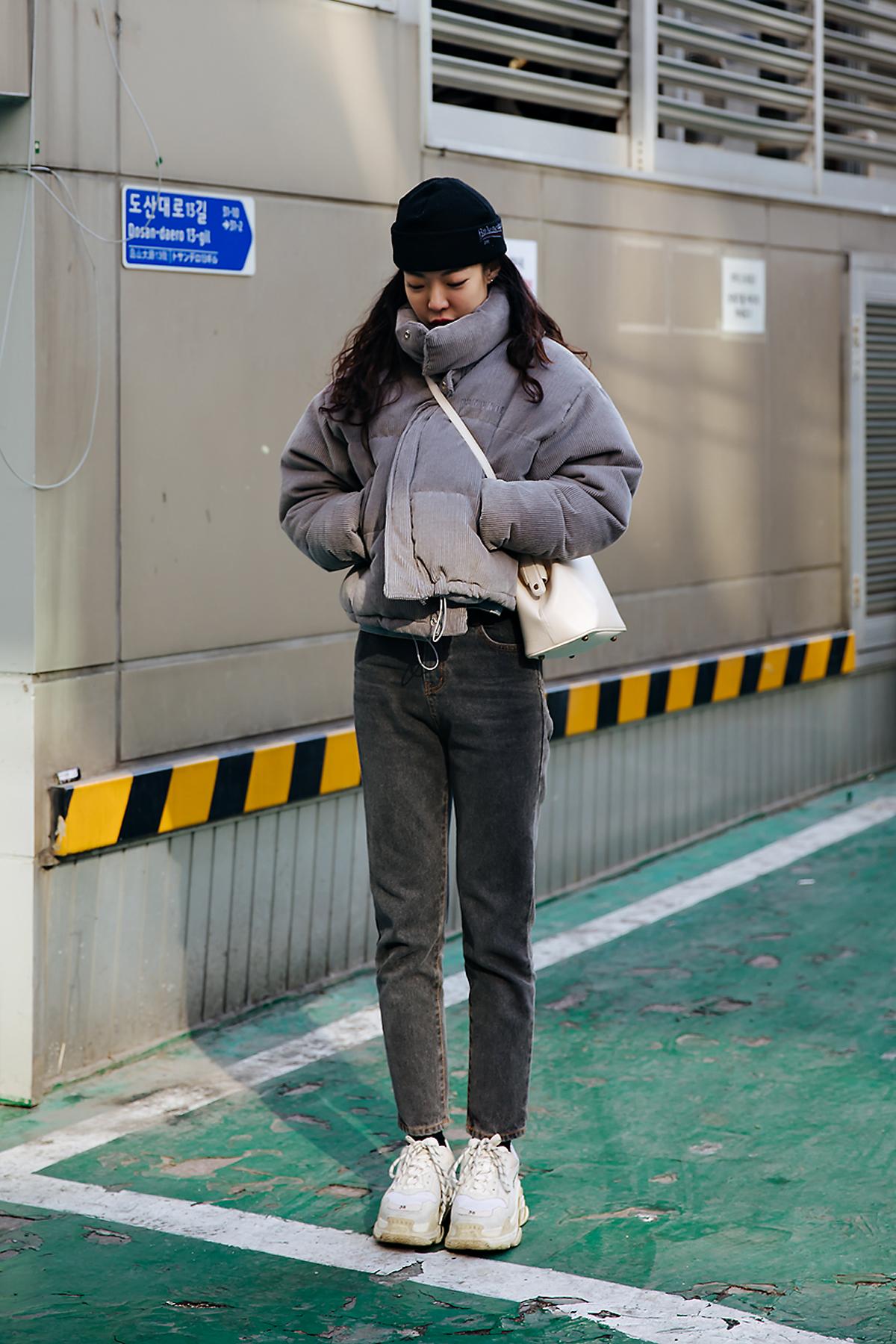 Song Sunmi, Street style women winter 2017-2018 inseoul