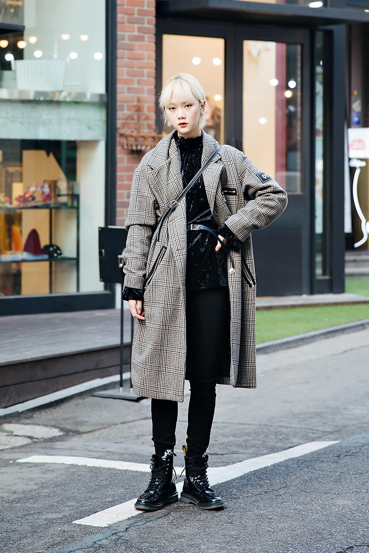 Yoo Chaerim, Street style women winter 2017-2018 inseoul