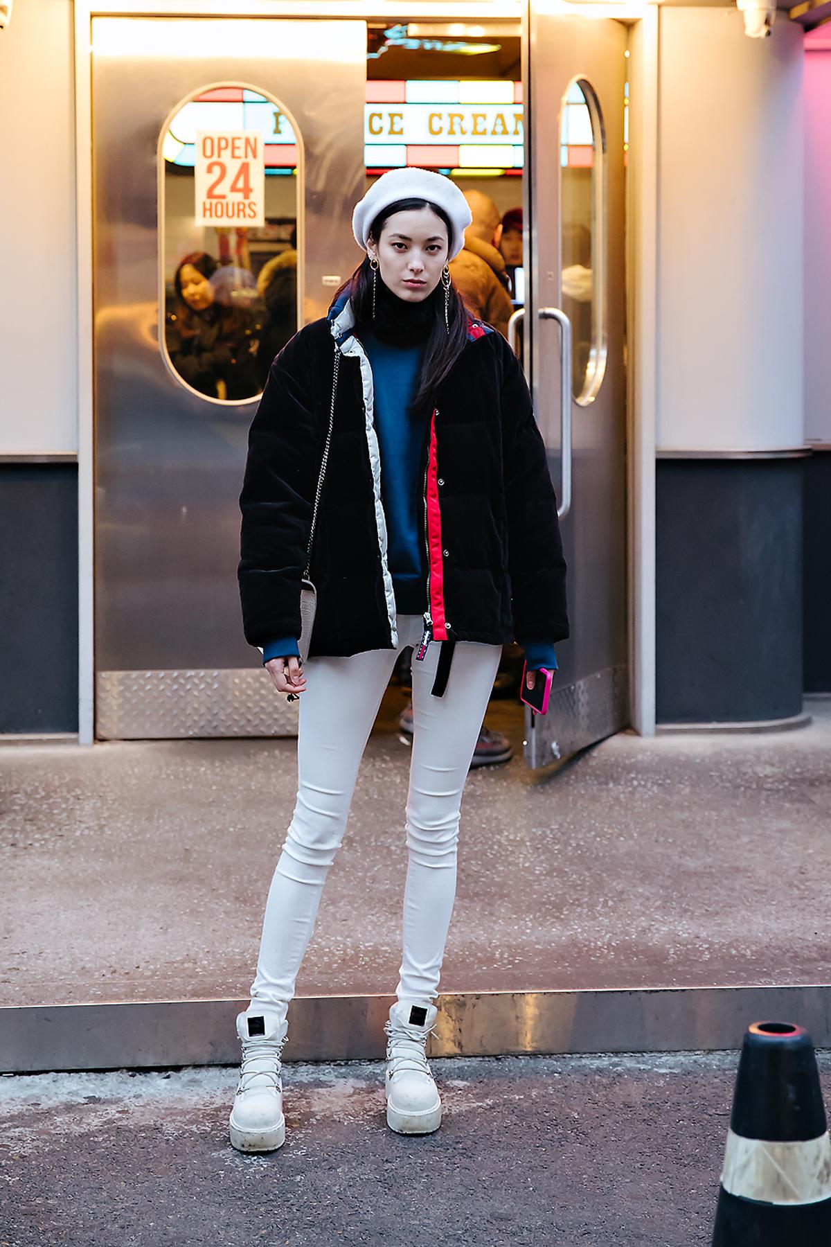 Han Eunbi, Street style women winter 2017-2018 inseoul