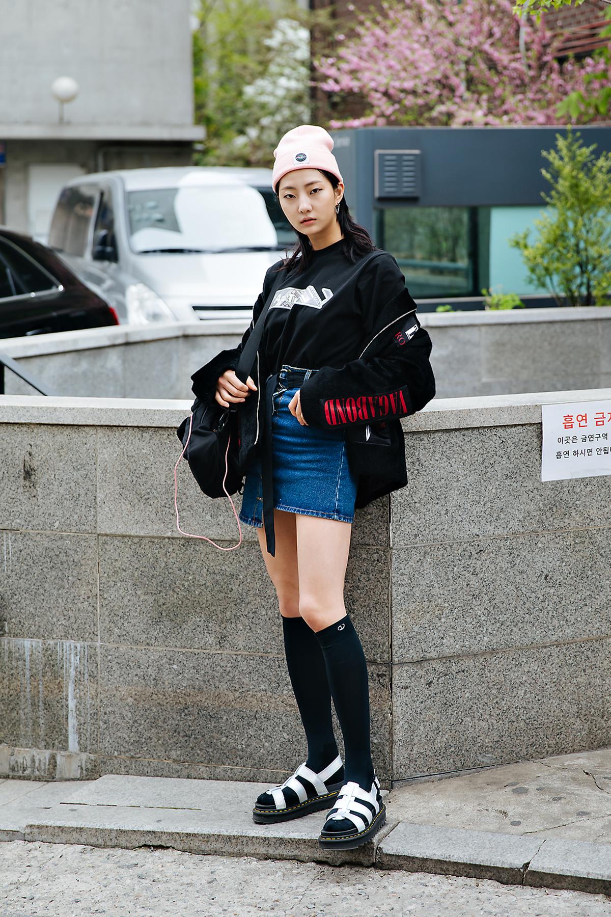 Ji Jian, Street style women spring 2018 in seoul