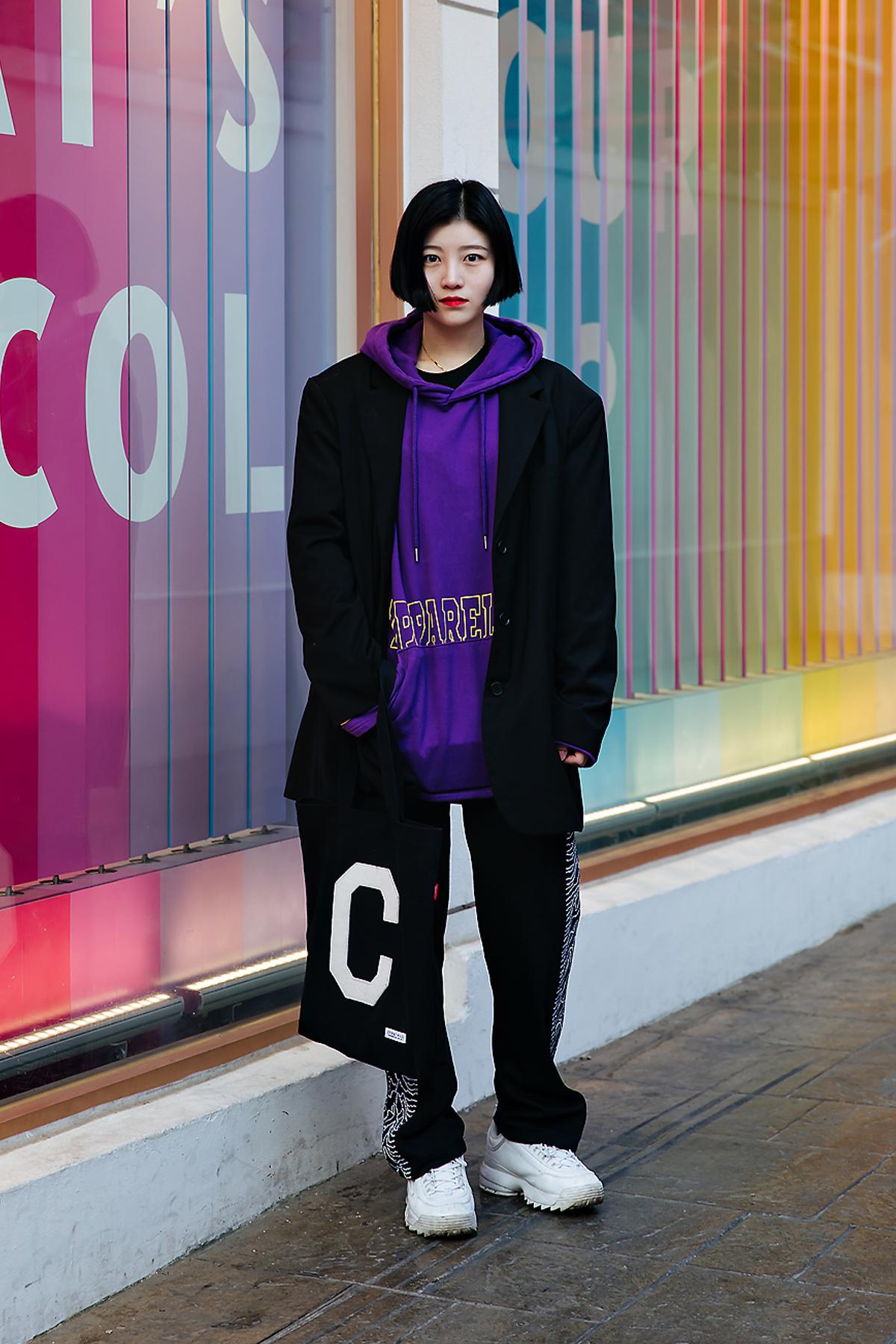Kim Hyunkyung, Street style women winter 2017-2018 inseoul