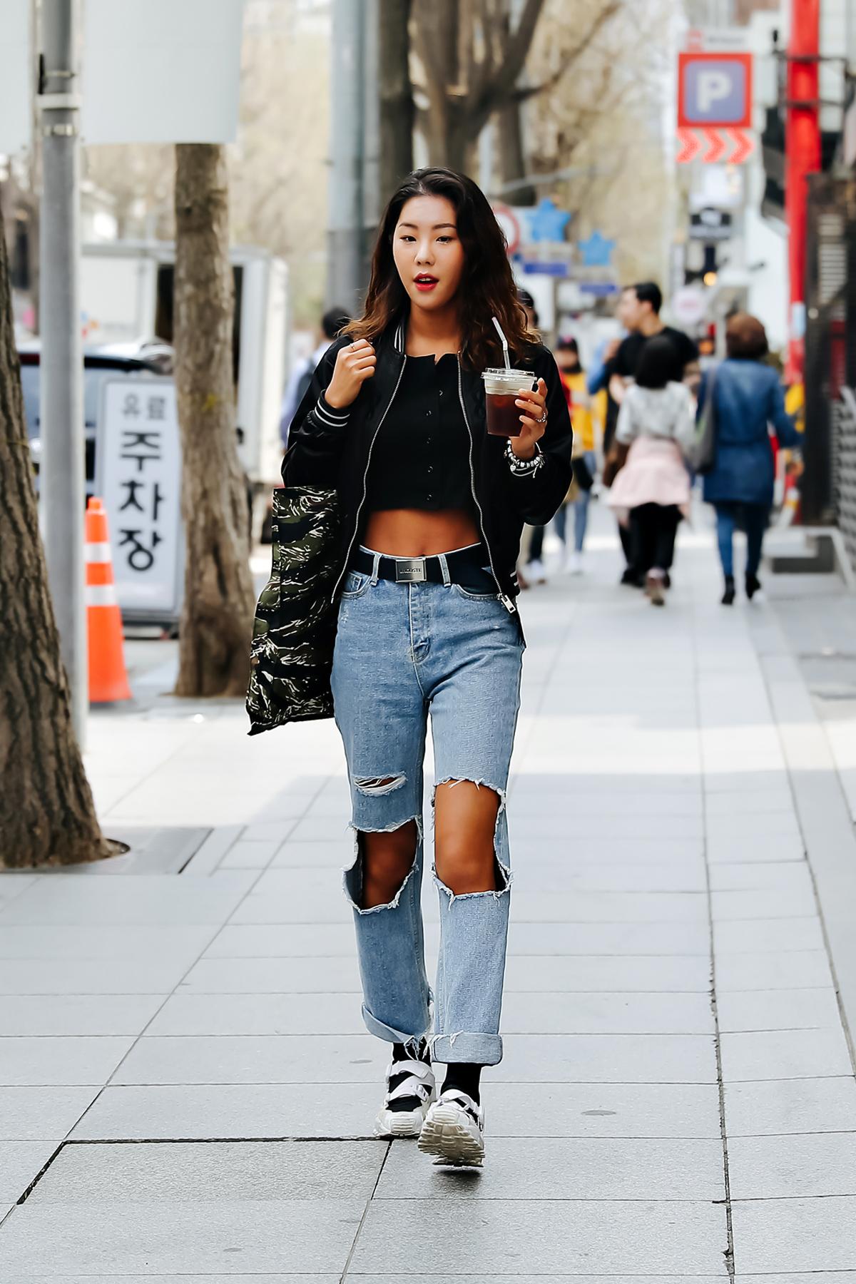 Kim Kyueun, Street style women spring 2018 in seoul