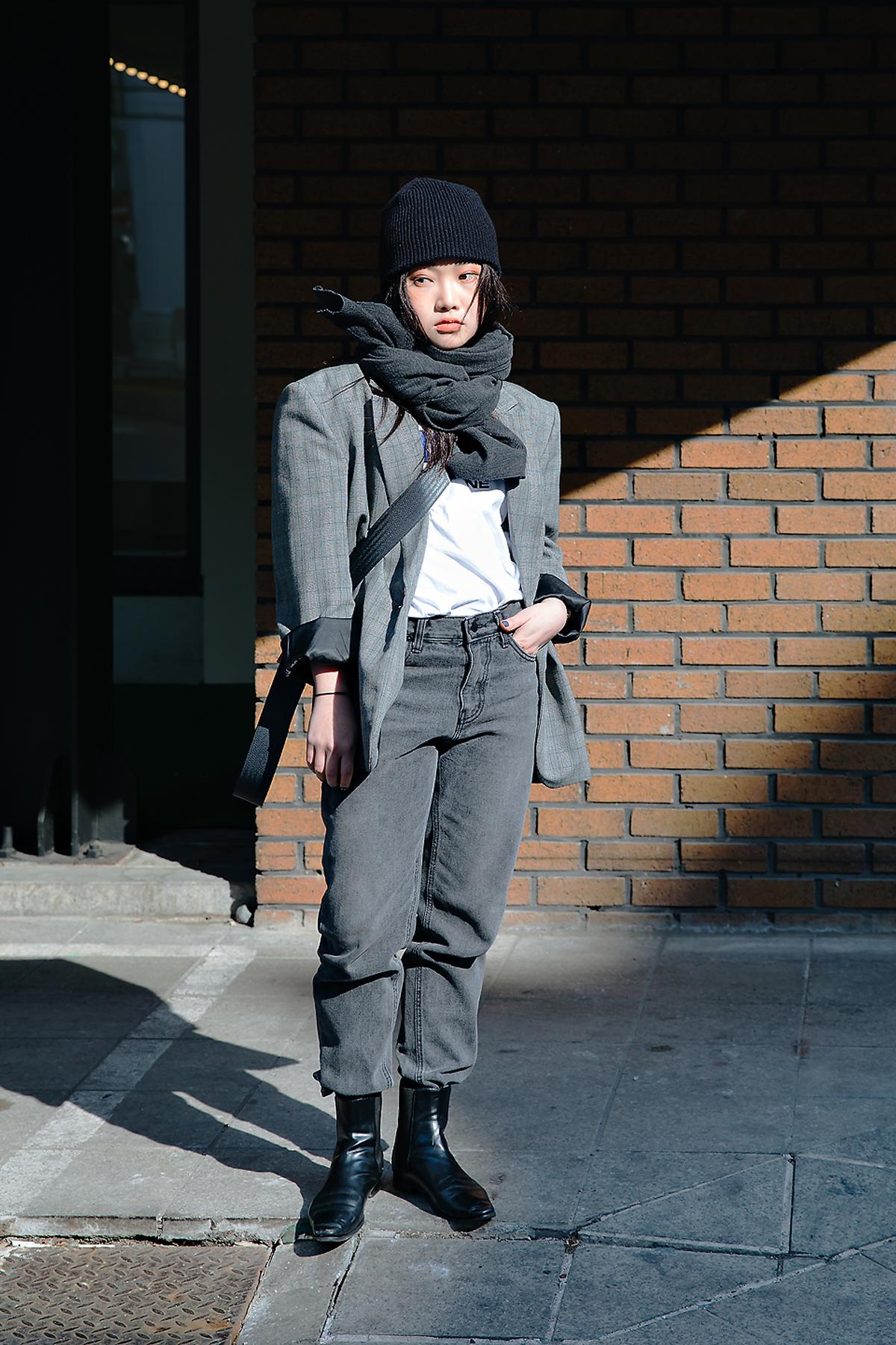 Kook Heera, Street style women winter 2017-2018 inseoul
