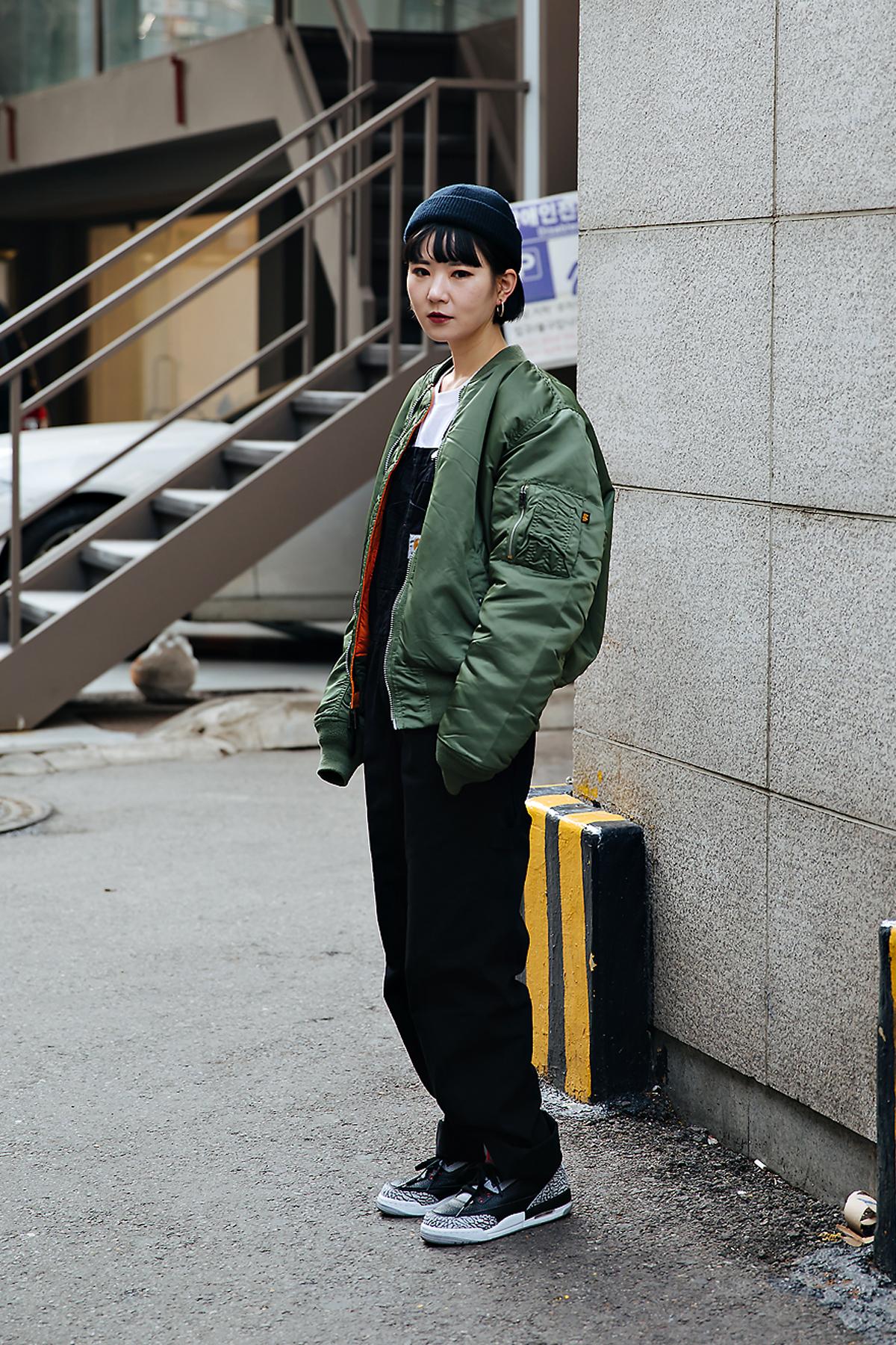 Mingshu, Street style women winter 2017-2018 inseoul