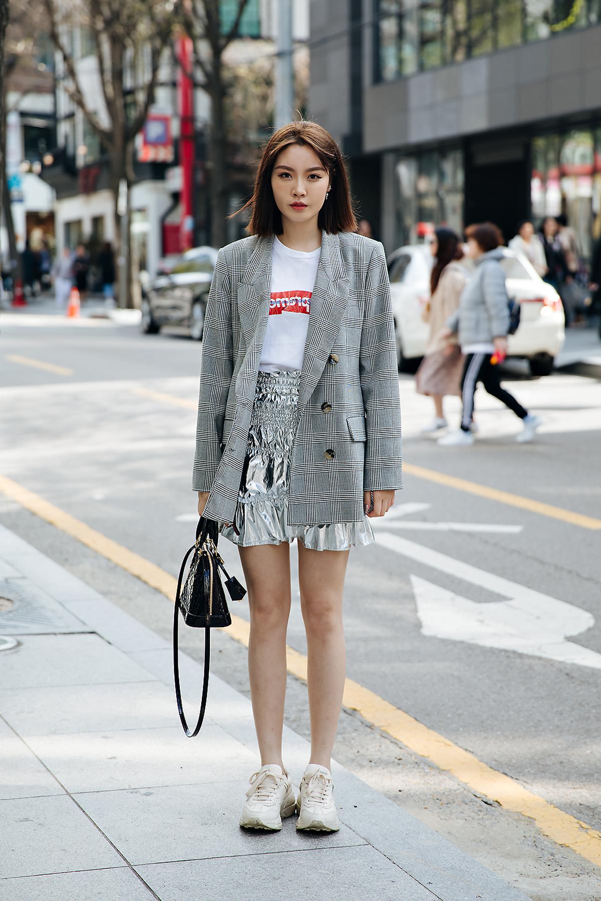 Zhou tao, Street style women spring 2018 in seoul
