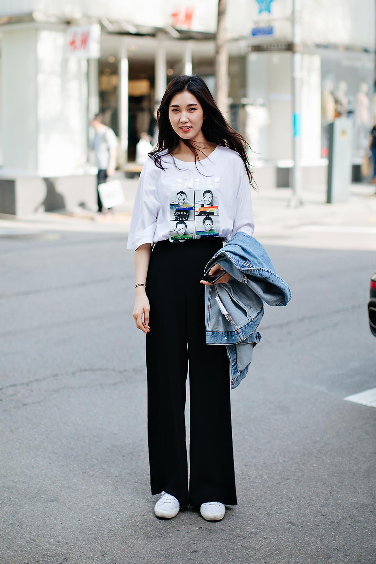 Han Songa, Street style women spring 2018 in seoul