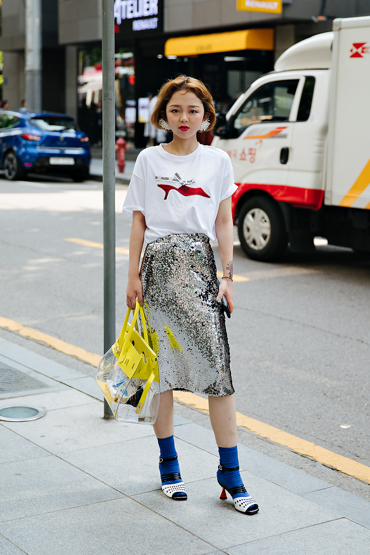 Qilin, Street style women spring 2018 in seoul