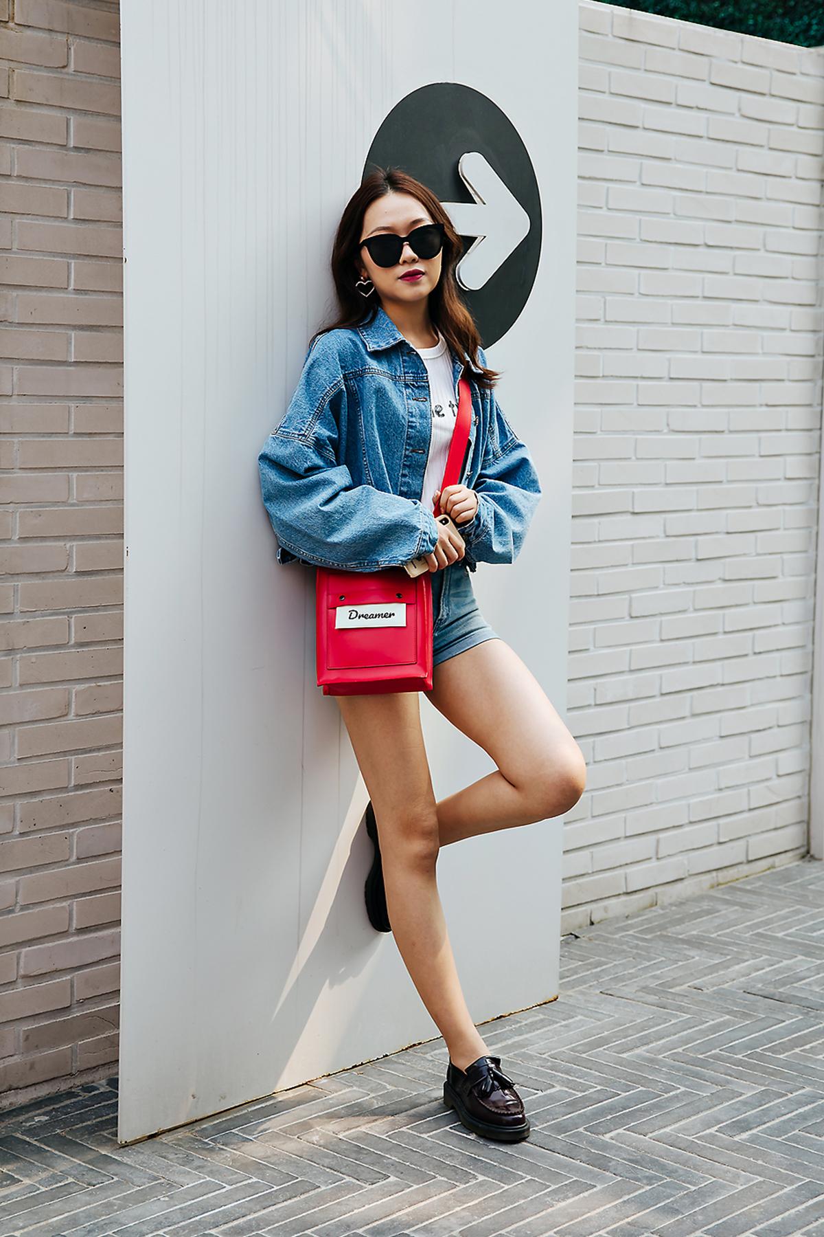 Zhoulinzi, Street style women spring 2018 in seoul